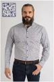 Extra langes bedrucktes Oberhemd von Plus Man.