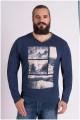 Langarm-T-Shirt mit V-Ausschnitt von Forestal.
