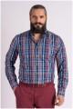 Kariertes Langarm-Oberhemd von Casa Moda, EXTRA LANG.