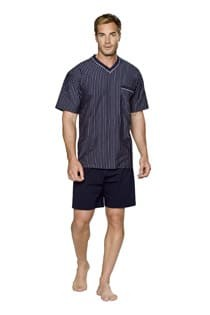 Kurzärmliger gestreifter Pyjama mit kurzer Hose von der Marke Ceceba