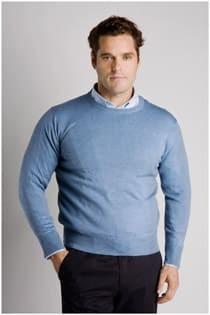 Rundhals- Wollpullover von Plus Man