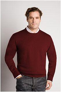 Extra lange Wollpullover von Plus Man