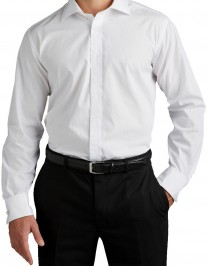 Unifarbenes Langarmhemd von Plus Man – zusätzliche Ärmellänge!