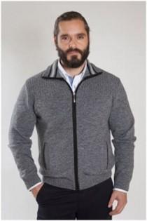 Strickjacke von Plus Man aus Wolle / Polyester.