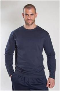 Basic T-Shirt mit langen Ärmeln von Plus Man.
