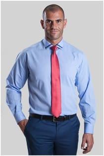 Uni Herrenoberhemd mit Kontrasten van Plus Man.