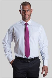 Uni Oberhemd in Überlängen, Faden an Faden, Überlänge Slim Fit.
