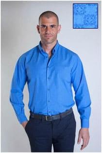 Bedrucktes Oberhemd mit langen Ärmeln von Plus Man.