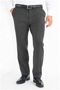 Stretch-Hose aus Wolle ohne Bundfalte.