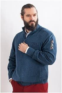 Jacke von Kitaro mit Badges - extra lang.