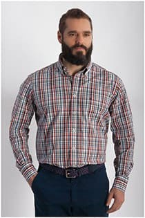 Kariertes Oberhemd von Casamoda mit EXTRA langen Ärmeln.