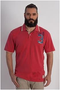 Piqué Polohemd mit kurzen Ärmeln und Badges von Kitaro.