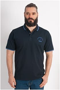 Elastisches Piqué Polohemd mit kurzen Ärmeln von Hajo.