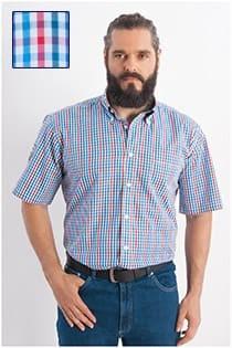 Kariertes Oberhemd mit kurzen Ärmeln von Redfield.