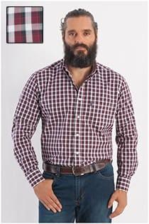 Kariertes Oberhemd von Casamoda mit langen Ärmeln.