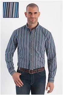 Gestreiftes Langarm-Oberhemd von Casamoda.