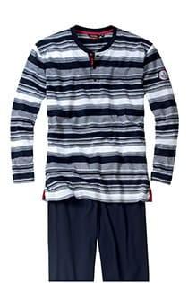 Gestreifter Pyjama, lange Ärmel und lange Hosenbeine, von Ceceba.