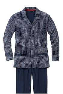 Bedruckter Pyjama aus Baumwolle mit Knopfleiste.