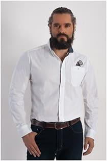 Uni Langarm-Oberhemd von Redfield.