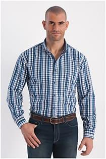 Kariertes Oberhemd mit EXTRA langen Ärmeln von Plus Man.