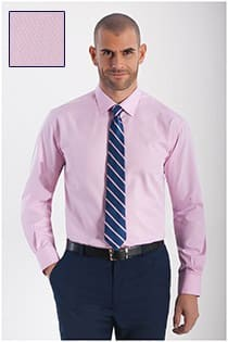 Extra langes Herrenoberhemd mit einer kleinen Struktur von Plus Man.