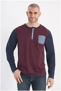 Zweifarbiges Langarm-T-Shirt aus Baumwolle von Forestal.