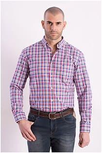 Kariertes Oberhemd mit langen Ärmeln von Carlos Cordoba.