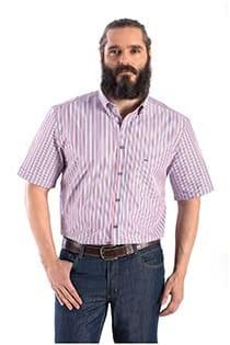 Gestreiftes Kurzarm-Oberhemd von Carlos Cordoba.
