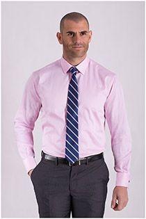 Uni Langarm-Dresshemd von Plus Man.