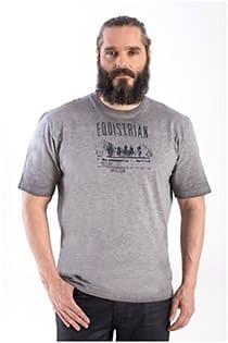 Kurzarm T-Shirt mit Aufdruck von Hajo.