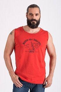 Ärmelloses Baumwoll-T-Shirt von Hajo.