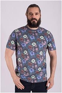 Bedrucktes Kurzarm T-Shirt von Casamoda.