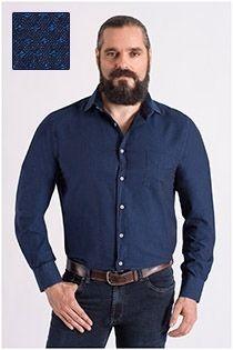 Lässiges Baumwolloberhemd mit einer kleinen Struktur von Carlos Cordoba.