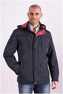 Extra lange Jacke mit Kapuze von Plus Man.