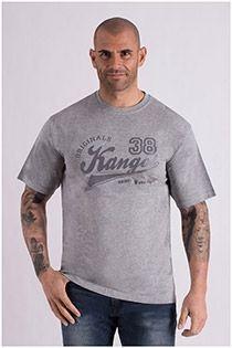 Kurzarm-T-Shirt aus Baumwolle von Kangol