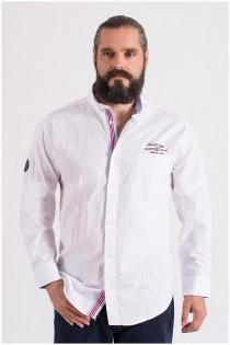 Uni Langarm-Oberhemd aus Baumwolle von Redfield.