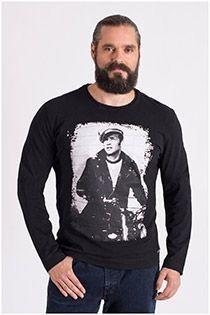 Langarm-T-Shirt mit Marlon Brando-Aufdruck von Redfield.