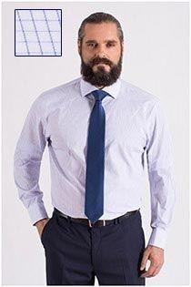 Extra langes kariertes Dresshemd von Plus Man.