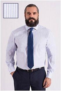 Extra langes Dresshemd von Plus Man.