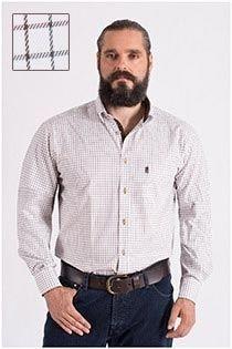 Kariertes Freizeithemd aus Baumwolle von Plus Man.