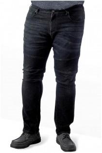 Elastische schwarze 5-Pocket-Jeans von D555.