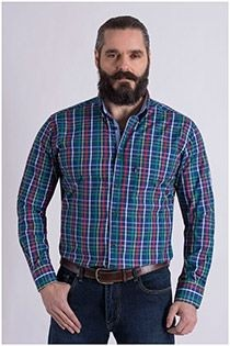 Langarm-Oberhemd von Plus Man.