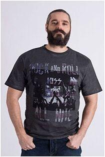 "Kurzarm-T-Shirt ""ROCK AND ROLL"" von Replika."
