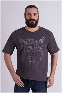 Kurzarm-T-Shirt mit Aufdruck auf der Brust von Kitaro.