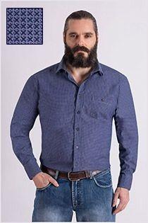 Bedrucktes Langarm-Oberhemd von Casamoda.