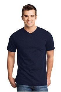 Uni Kurzarm-T-Shirt mit V-Ausschnitt von Redfield.