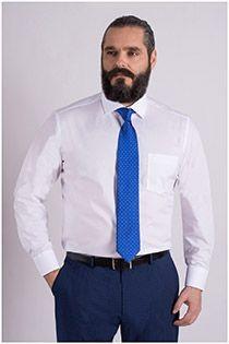 Bügelfreies uni Dresshemd, EXTRA LANG, von Casamoda.