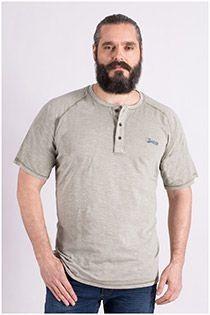 T-Shirt mit Serafino-Kragen von Redfield.