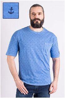 Kurzarm-T-Shirt mit All-Over-Print von Redfield.
