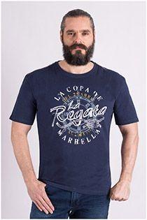 Kurzarm-T-Shirt aus Baumwolle von Redfield.